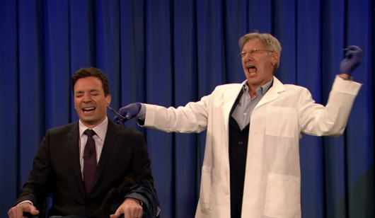 Harrison Ford Pierces Jimmy Fallon's Ear